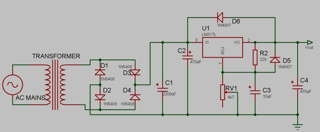 Simple DIY Power Supply Schematic