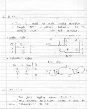 Notes on Digital Logic Design - Flip Flops and Counters