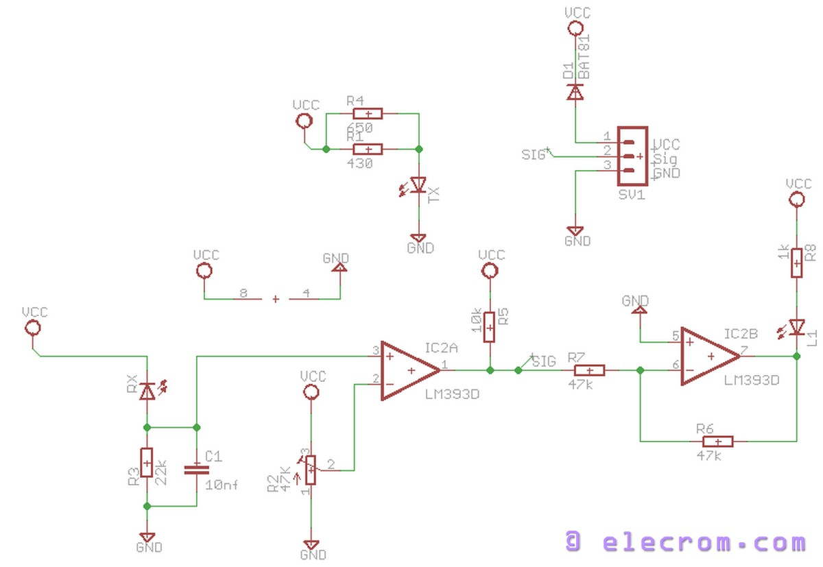 Diy Infrared Sensor Module Embedded Electronics Blog Ir Led And Photo Diode Object Detection Circuit Diagram Schematic