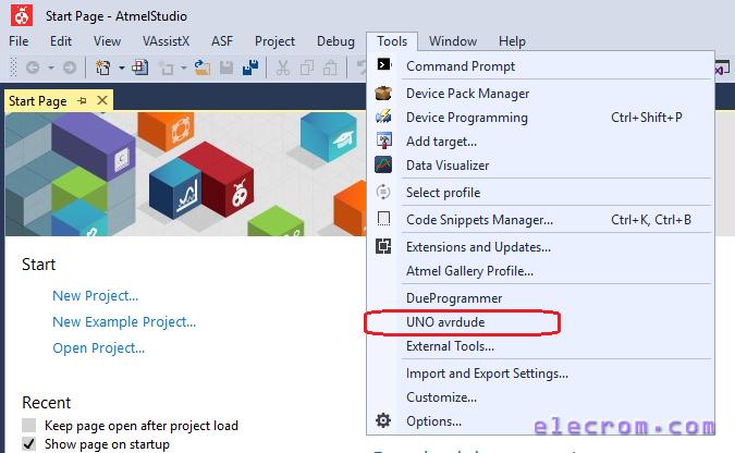 Adding UNO programmer tool in Atmel Studio